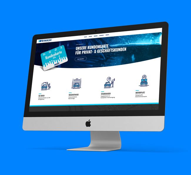Friwash Webseite