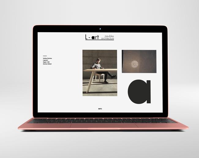 Neues Webdesign für Atelier L-art
