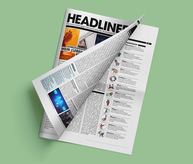 Sternzeichen Illustrationen für die Zeitung Headliner
